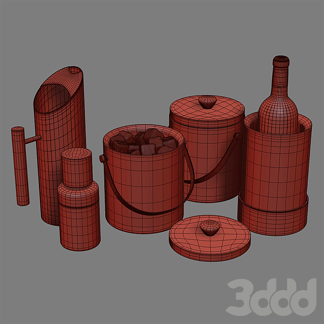 West Elm Nickel + Wood Barware