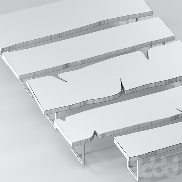 Серия столов из слэбов + слэбы для декора.