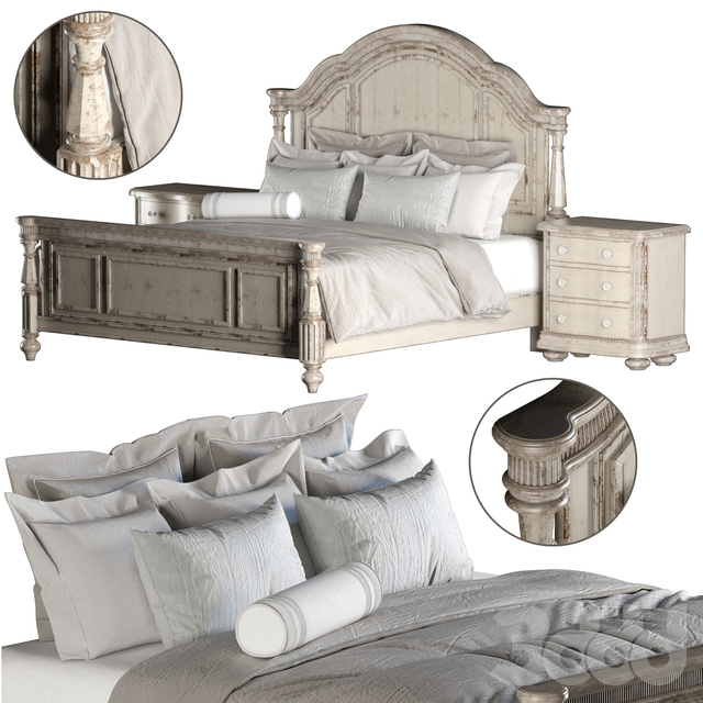 A.R.T. FURNITURE BELMAR PANEL BED (KING SIZE)