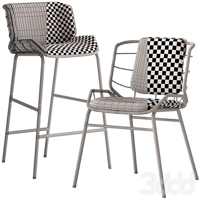 Truba Met Stool and Chair