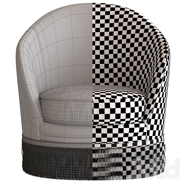 Globewest Kennedy Fringed Armchair