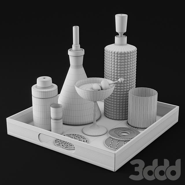 CB2 Barware Coffee Table Decor Set 1