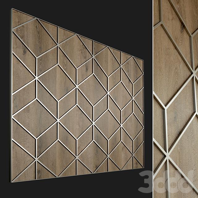 Стеновая панель из дерева. Декоративная стена. 75