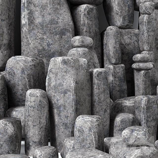 Stone rock block / Каменные скальные блоки