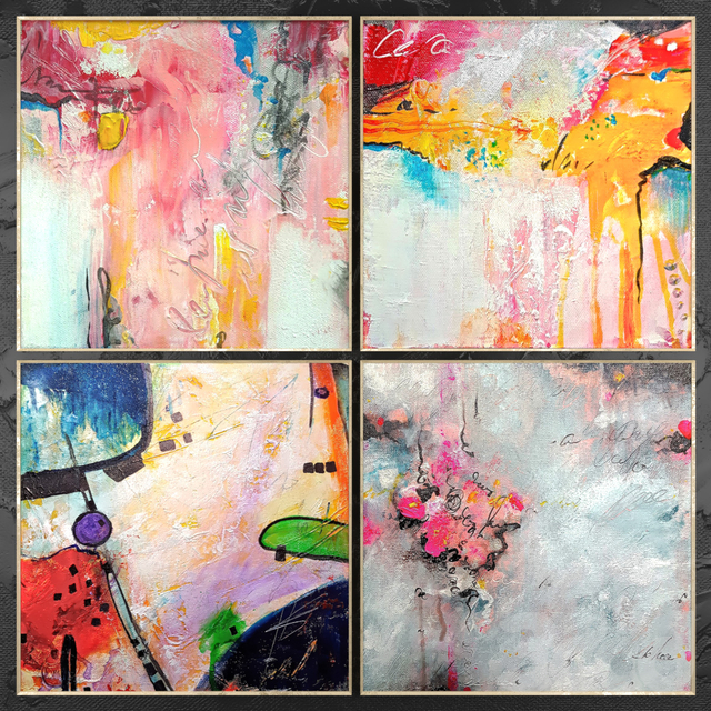 Paintings abstract   set 458