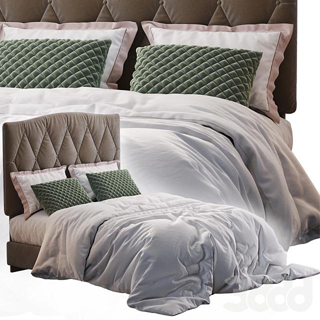 Elliot Curved Upholstered Bed