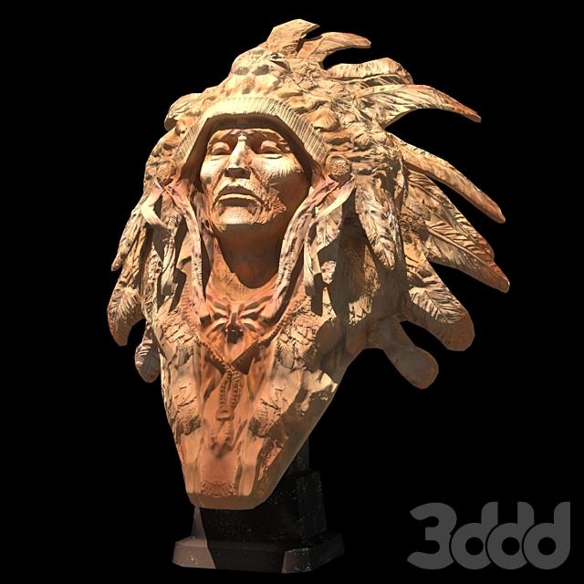Скульптура Американский Индеец