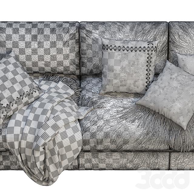 RH Modena Taper Arm Sofa