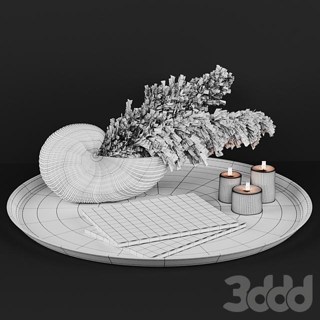 A decoratively artificial Pampas flower 02