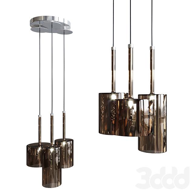 Подвесной светильник AXO Light Spillray SP3 glass bronze