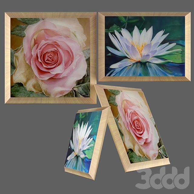 Картины Роза и Водяная лилия