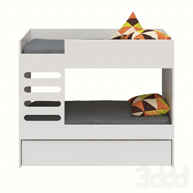 AVA Kids bunk bed, white