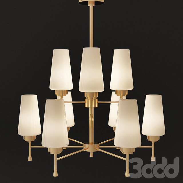 Arteriors Home Sigmund Chandelier Antique Brass