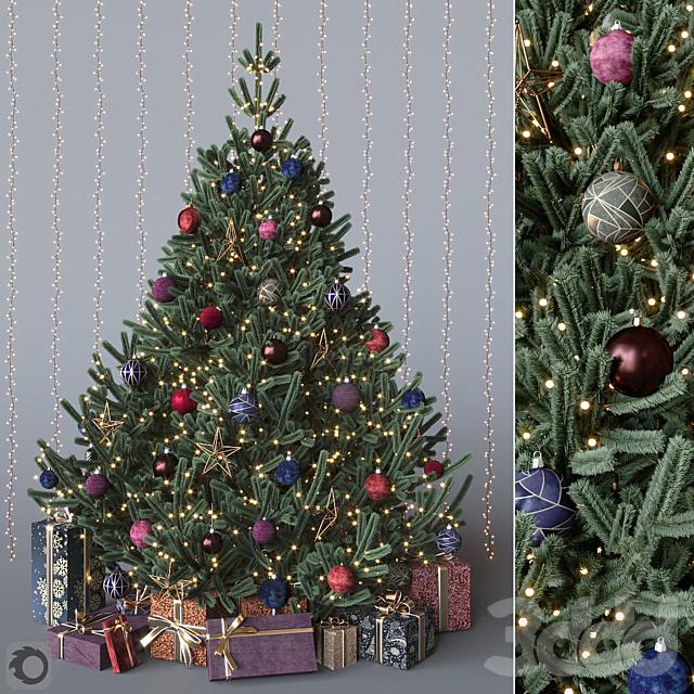 Dark Christmas tree