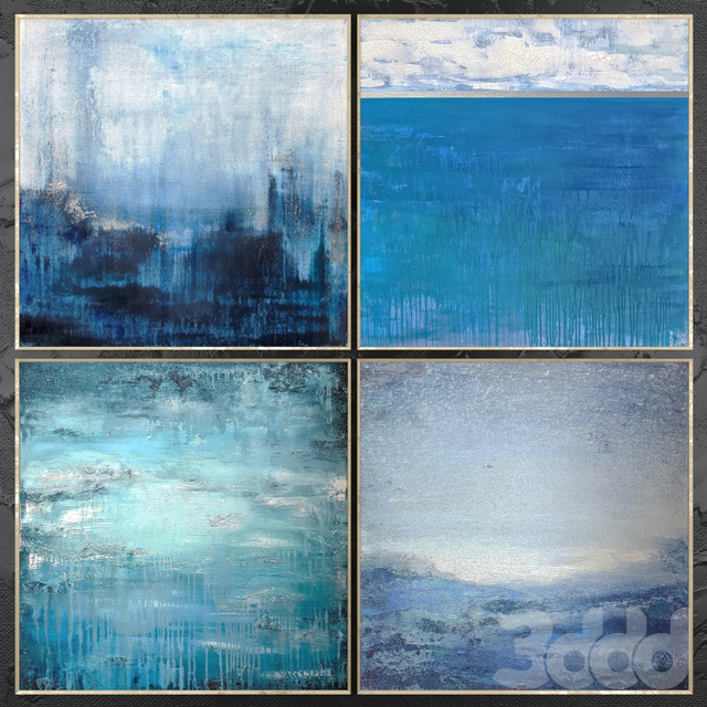 Paintings abstract | set 464