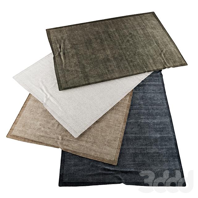 Коллекция реалистичных ковров | RH Acana Border performance handwoven rug