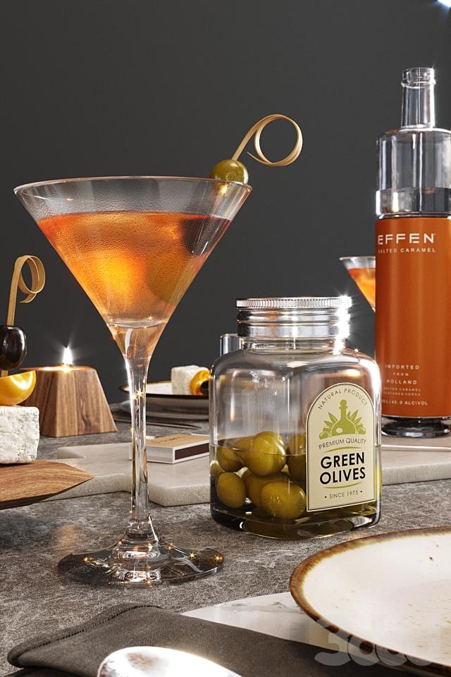 S e r v i n g with cocktails
