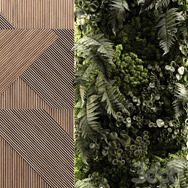 Wooden panels and vertical garden 2