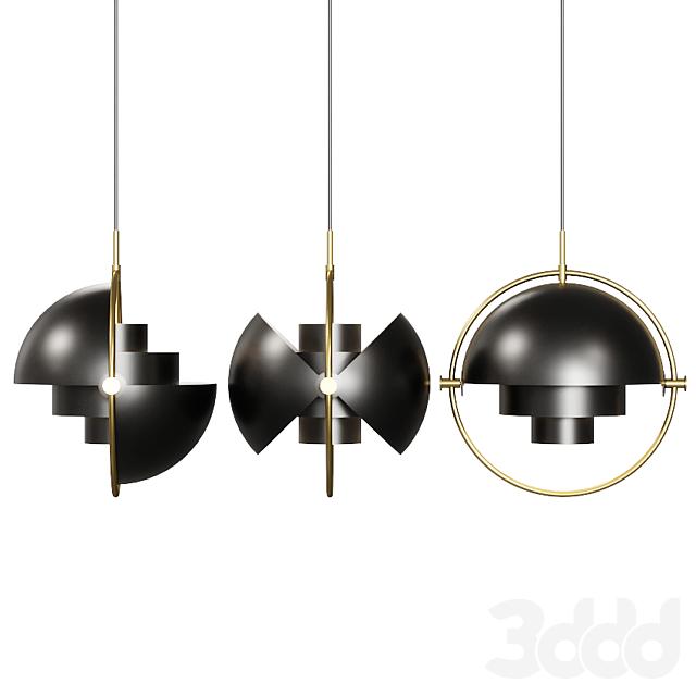 Gubi Multi Lite Pendant Louis Weisdorf Black