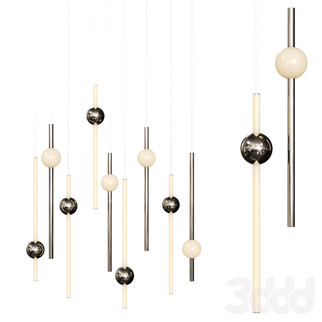 ORION GLOBE LIGHT from Lee Broom Nickel