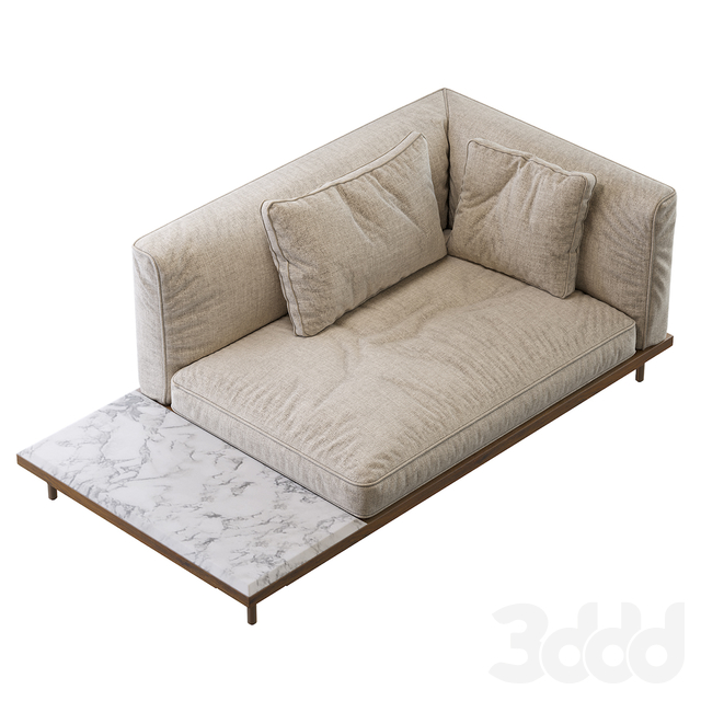 122 08R BELLE REEVE DAYBED WITH TABLE