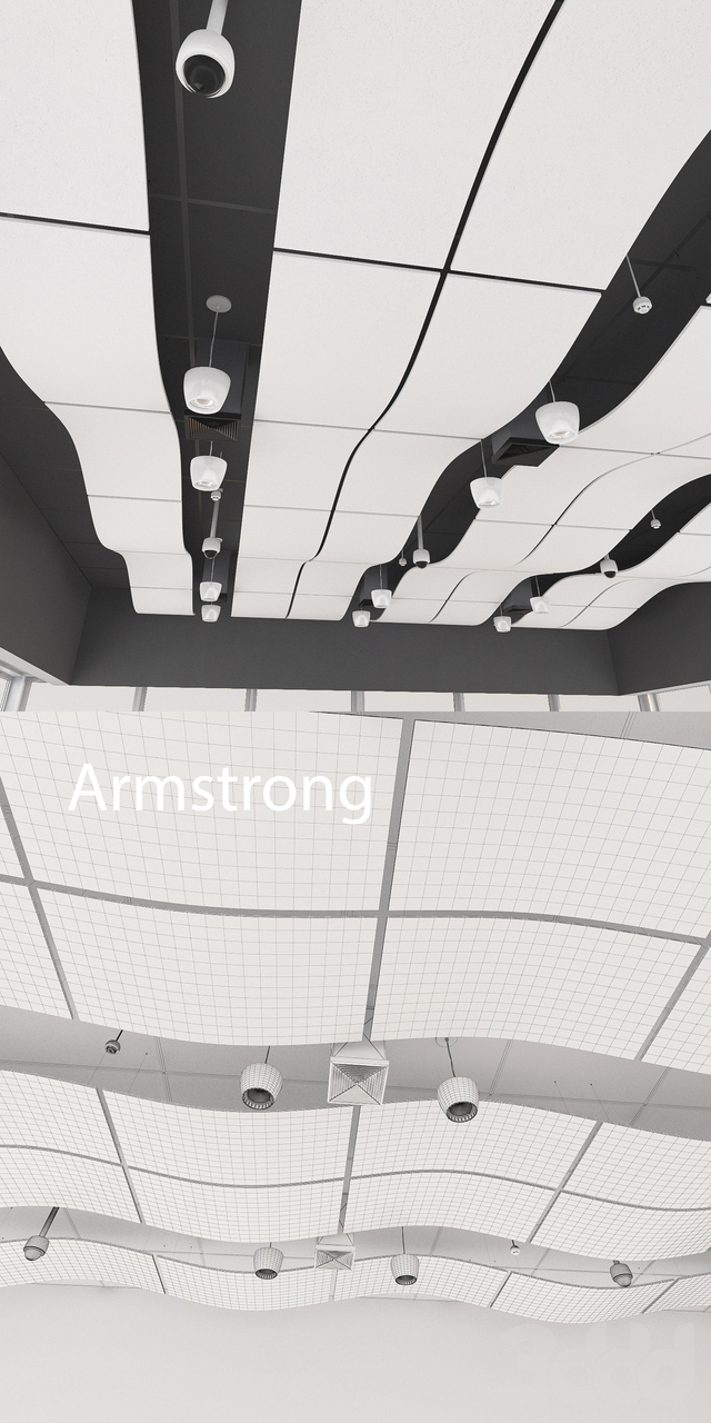 Потолок Armstrong акустический 1