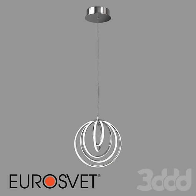 ОМ Подвесной светодиодный светильник Eurosvet 90170/5 хром Cycle