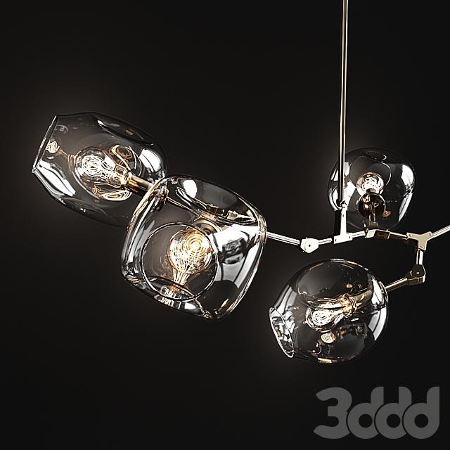 Branching bubble 5 lamps