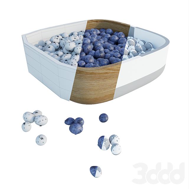 Голубика в тарелке