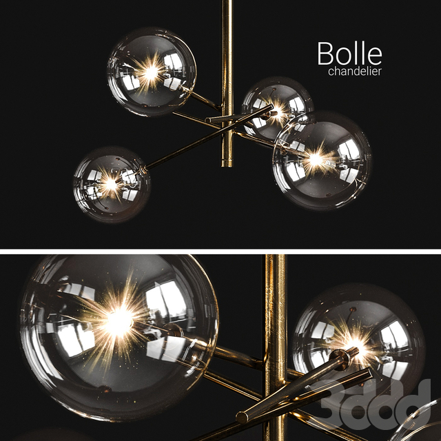 Chandelier Gallotti & Radice Bolle 4 lights