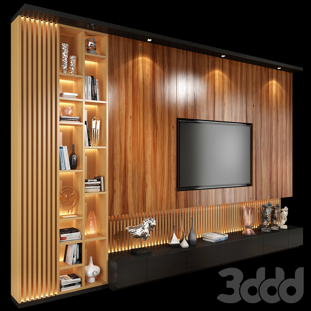 TV Wall Units set 01