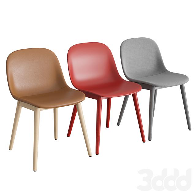 Fiber Side Chair Wood Base