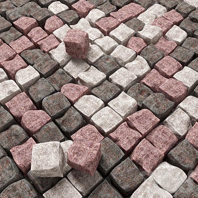 Брусчатка из колотого гранита / Paving granite chipped
