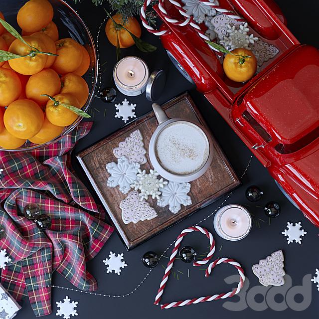 Декоративный набор в рождественском стиле