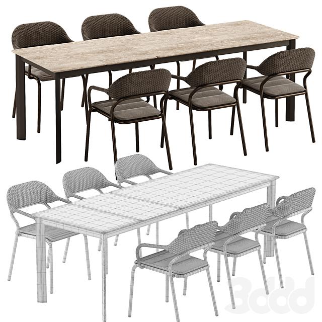 Varaschin Noss chair System table set