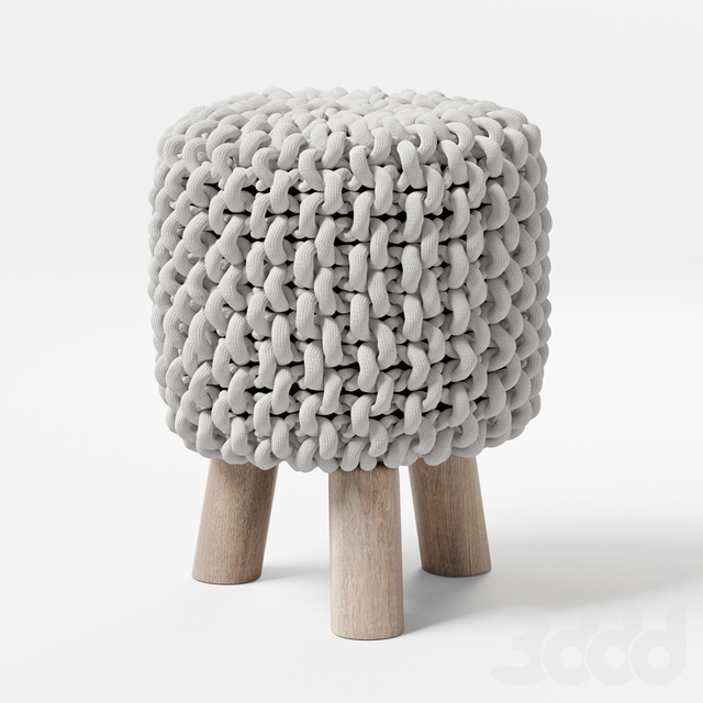 Chunky Knit Mini Stool