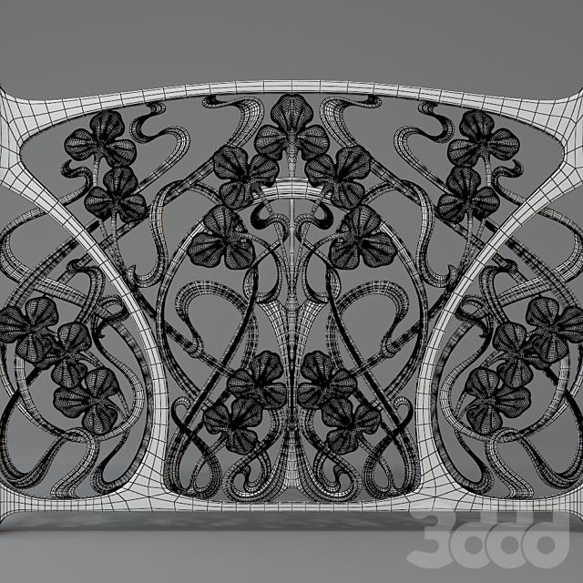 Радиаторный экран в стиле арт-нуво