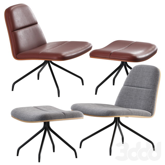 MAD / Bloom Upholstered Duet Lounge Chair
