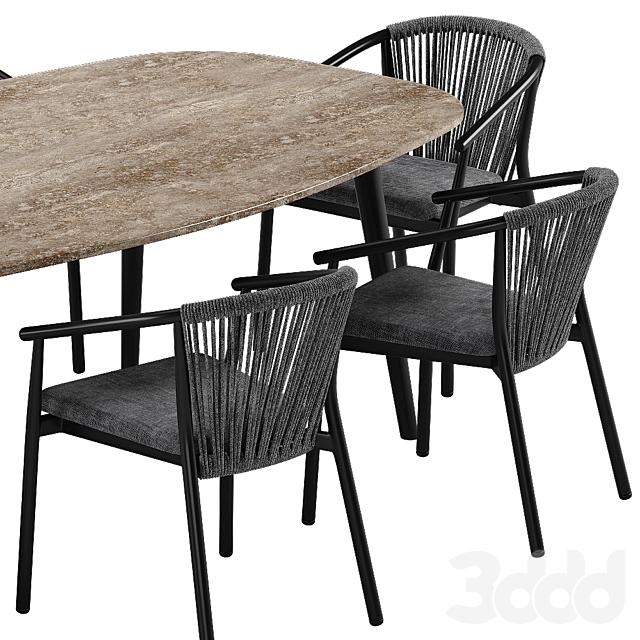 Varaschin Smart chair Ellisse table set