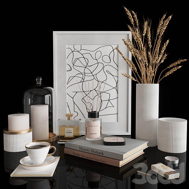 White decorative set