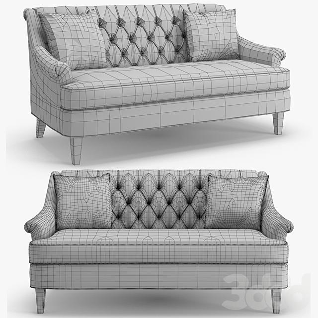 Hickory furniture - Marler tufted apartment sofa