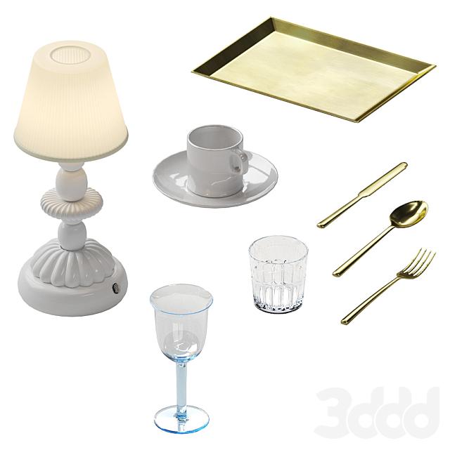 Сервировка с лампой Lotus Firefly