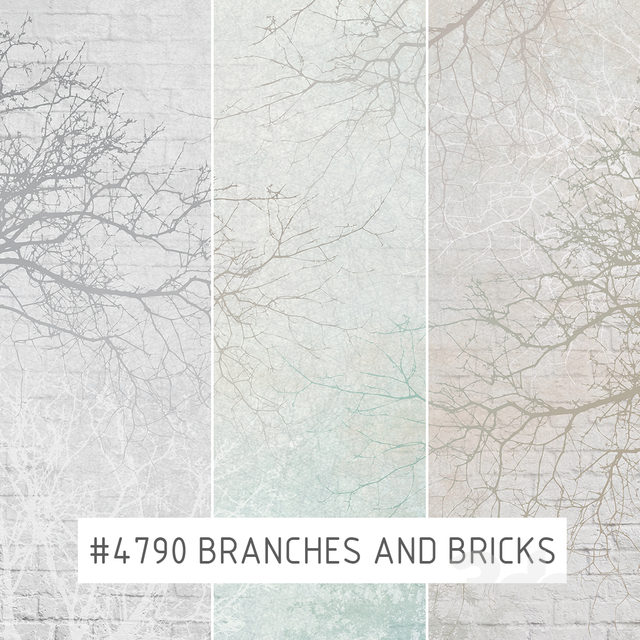 Creativille | Wallpapers | Branches and bricks 4790