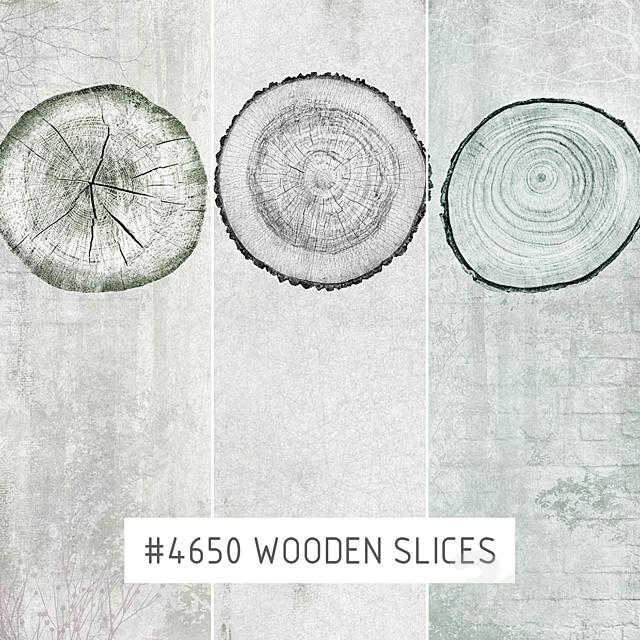 Creativille   Wallpapers   Wooden slices 4650