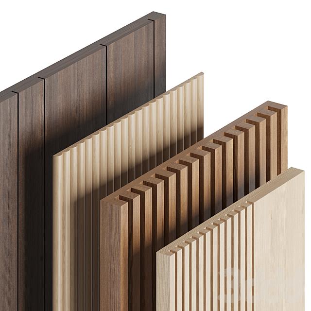 Wood panels set 1