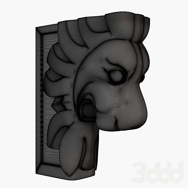 Стилизованная голова льва