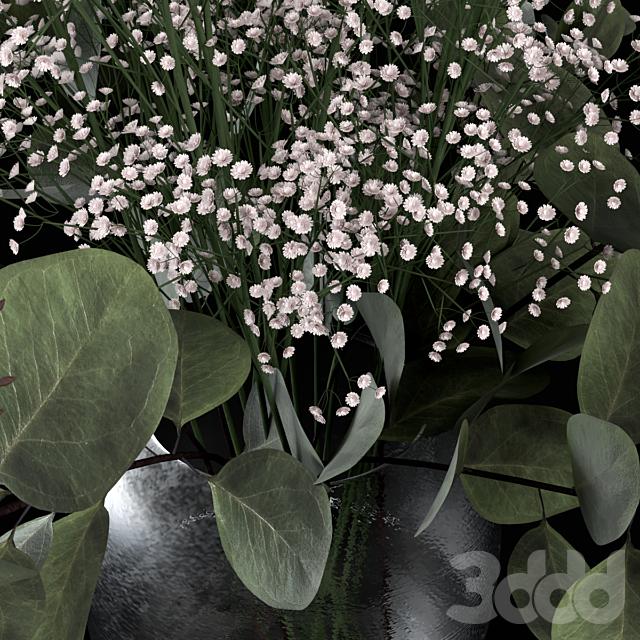 Букеты из эвкалипта с цветками и травой