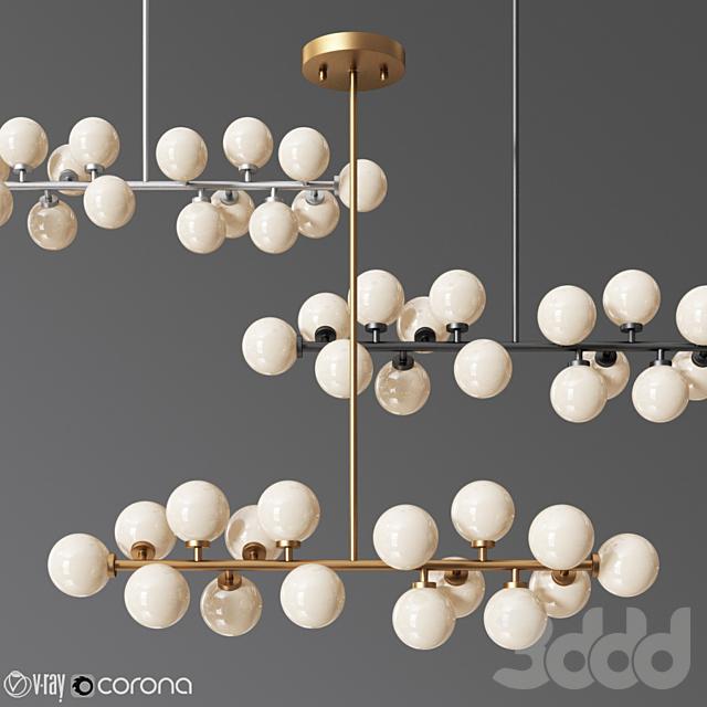 Vintage Hanging Pendant Light White Glass Ball
