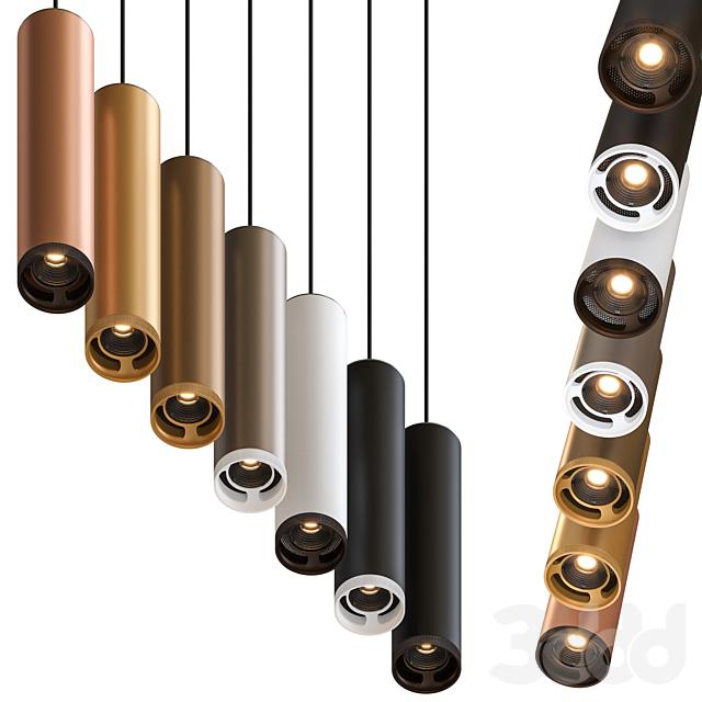 Olev Beam Stick 80 Pendant Lamp by Marc Sadler Pack 2
