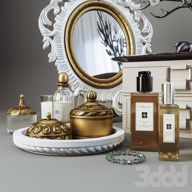 Decorative set for ladies dressing table